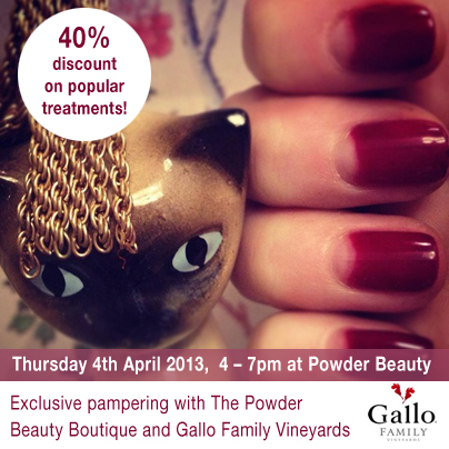 gallo wine powder beauty treatments discount event