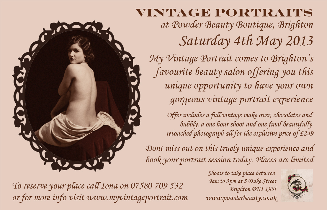 My Vintage Portrait & Powder Rooms
