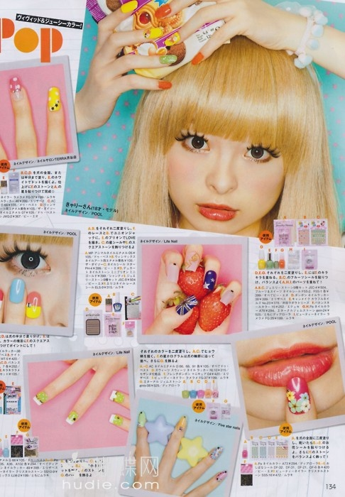 Harajuka make up and nails for POP magazine