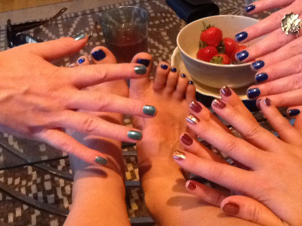 More fab manicured hands for this Birthday Bash