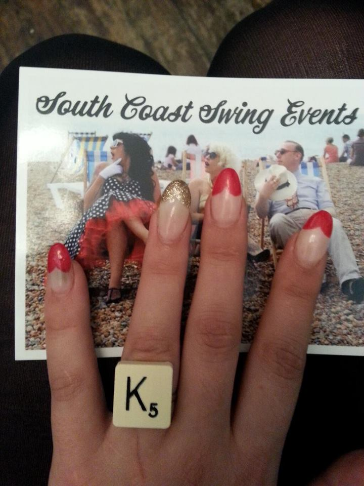 South Coast Swing Events and her lovely nails by Powder