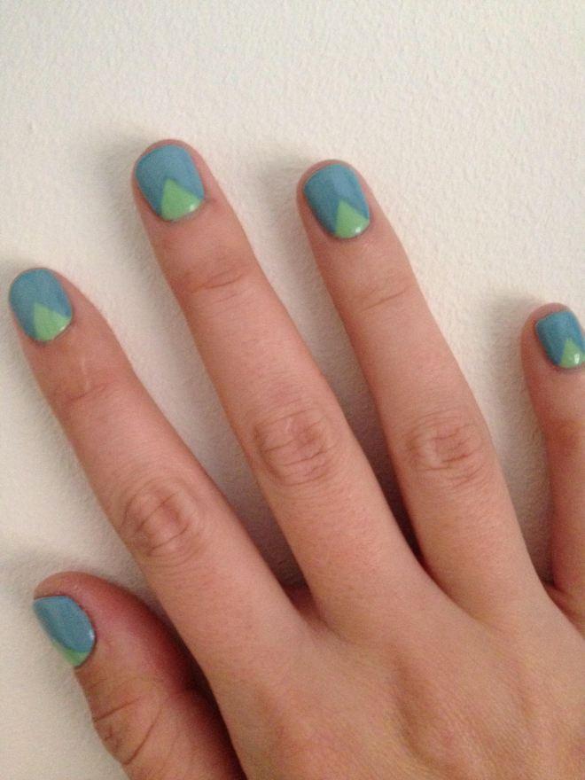 70s geo nail art
