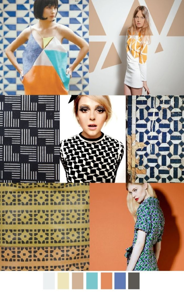 70s geo prints inspiration for nail art