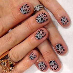 leopardfade nail art