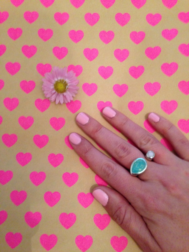pastel pink manicure