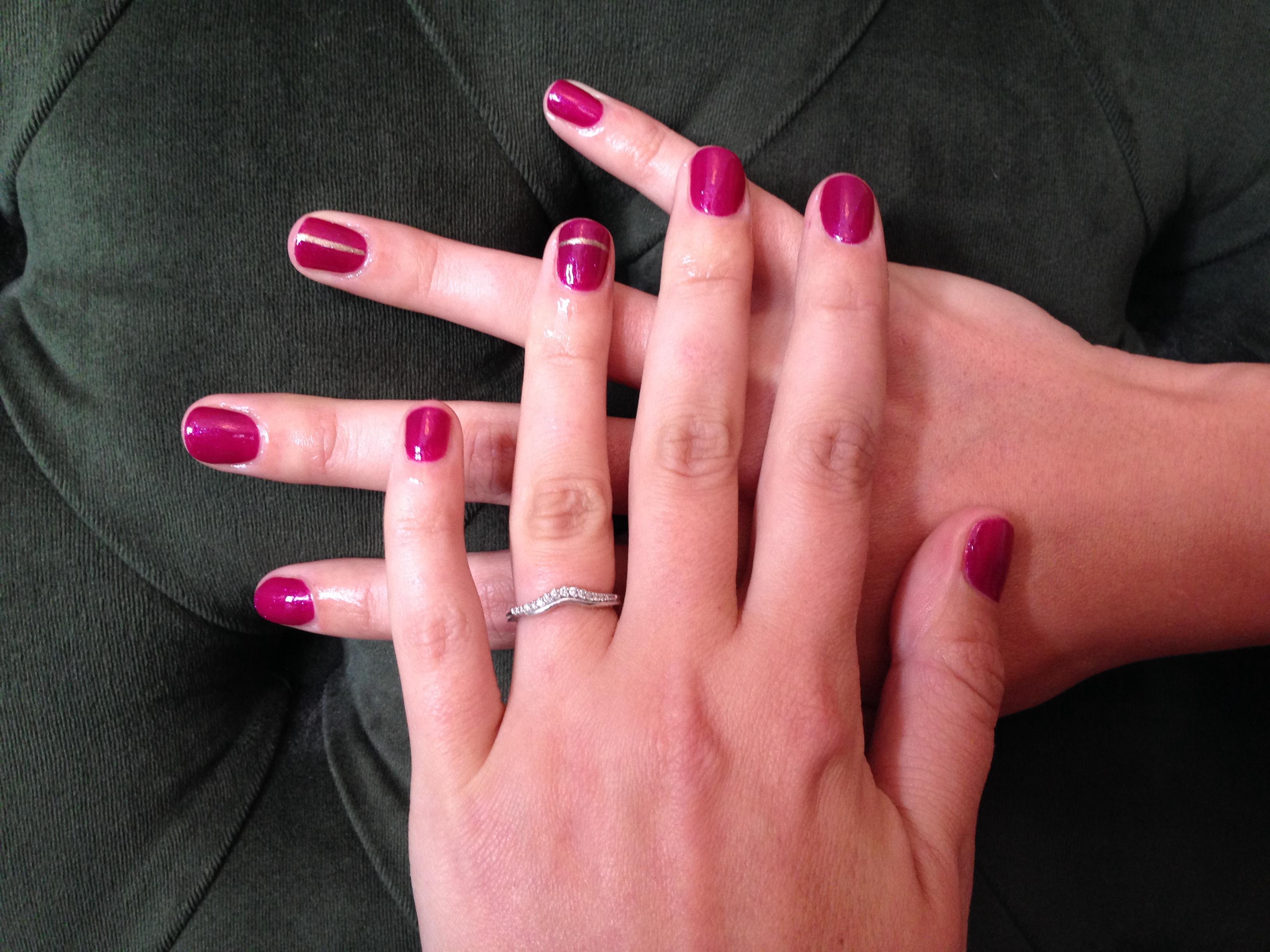 marsala-toned manicure