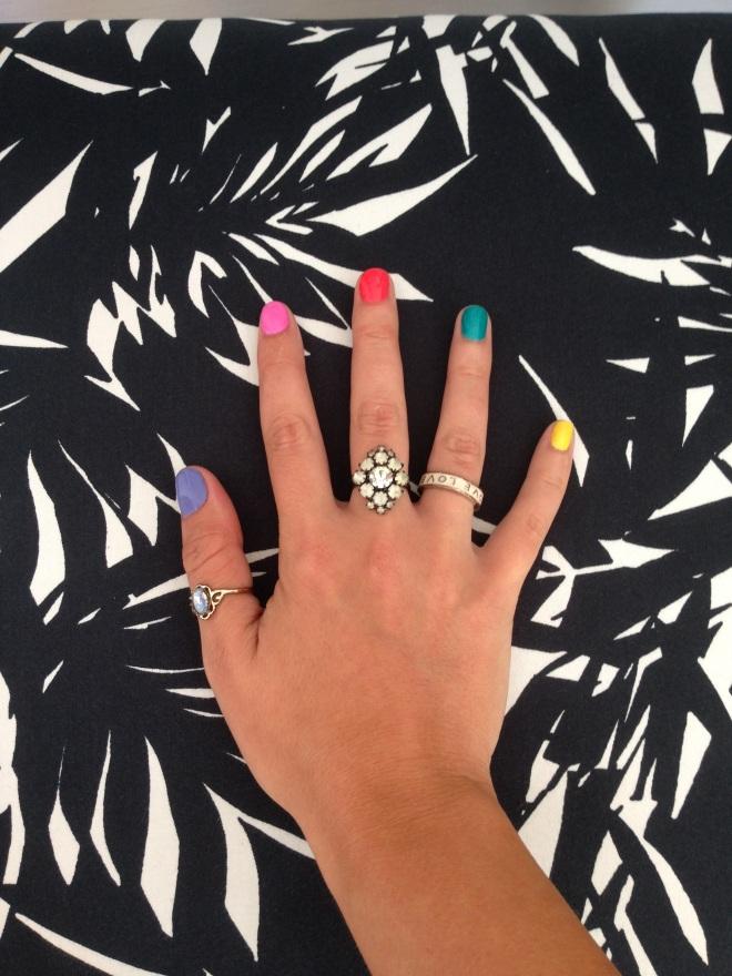 Brighton Pride rainbow manicure